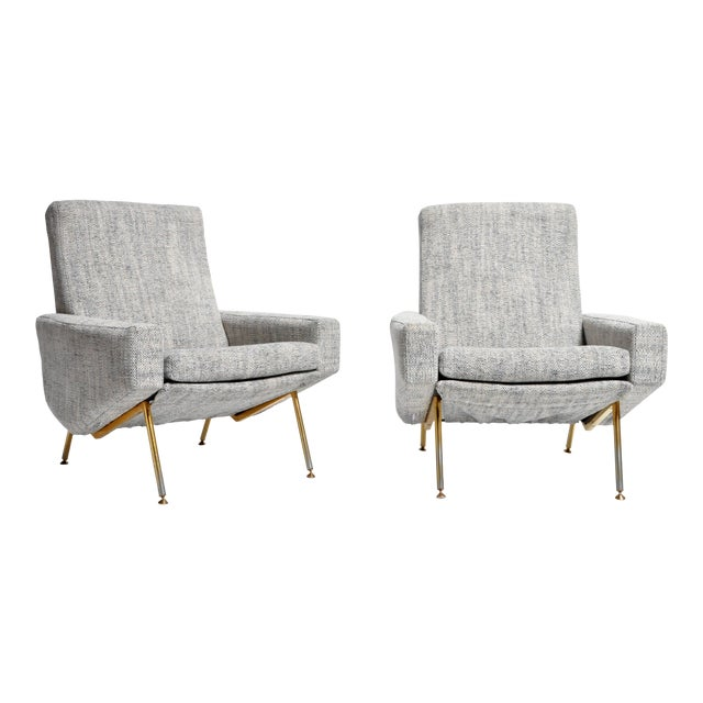 French Airborne Edition Armchairs by Pierre Guariche - a Pair For Sale
