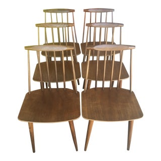 1970s Mid-Century Modern Folke Palsson Teak Dining Chairs - Set of 6