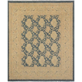 Kafkaz Sun-Faded Shae Charcoal/Lt. Tan Hand-Knotted Rug - 7'8 X 9'3 For Sale