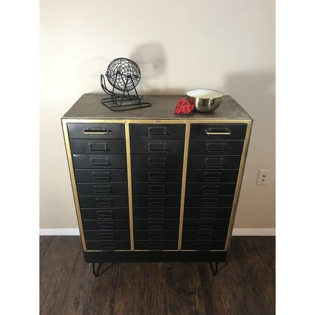 1960s Refurbished Metal Cabinet For Sale - Image 4 of 7