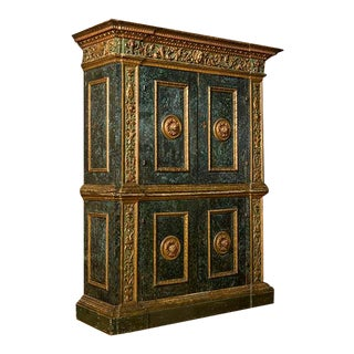19th Century Italian Painted Cupboard For Sale