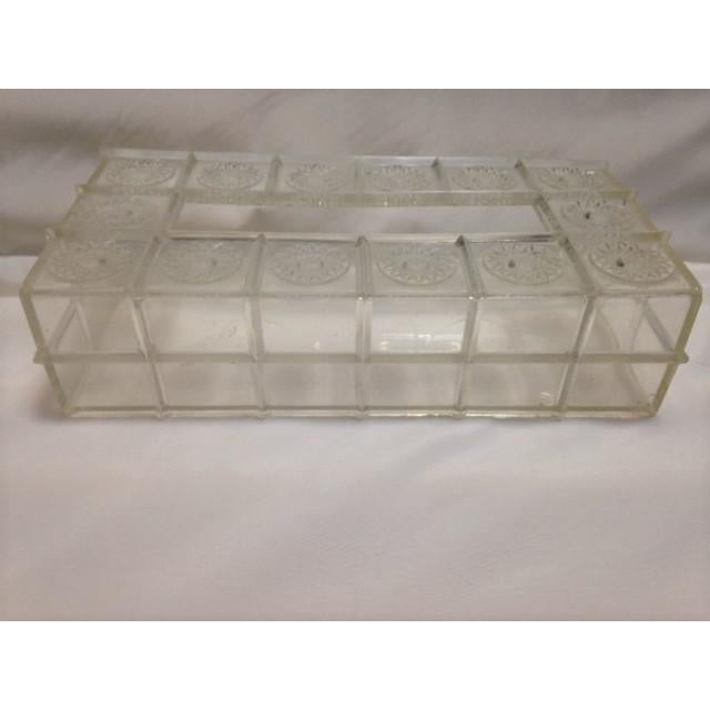 Mid-Century Lucite Tissue Holder For Sale - Image 4 of 7
