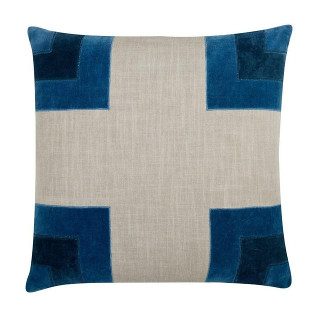 """Piper Collection Blue """"Luke"""" Pillows - a Pair - Image 2 of 2"""
