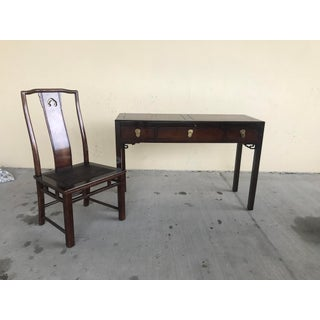 White Fine Furniture Chinoiserie Style Desk and Chair Preview
