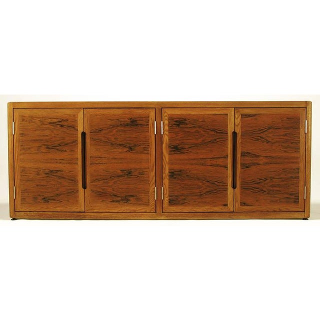 Dunbar Rosewood and White Oak Credenza For Sale - Image 10 of 10