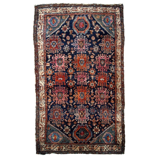 1910s, Handmade Antique Persian Malayer Rug 4.1' X 6.3' For Sale - Image 11 of 11