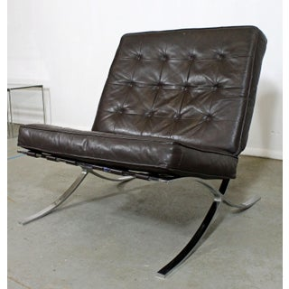 Mid-Century Danish Modern Barcelona Style Chrome Lounge Chair Preview