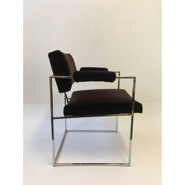 Set of Six Chrome Armchairs by Milo Baughman for Thayer Coggin For Sale - Image 9 of 11