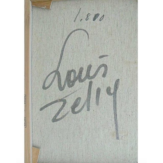 Loius Zelig Mid-Century Modern Painting For Sale - Image 9 of 10