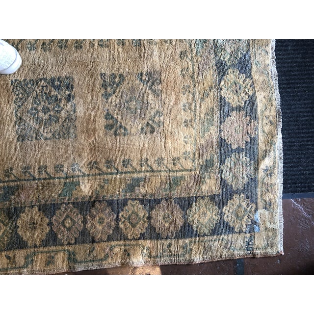 Early 20th Century Antique Turkish Wool Oushak Prayer Rug For Sale - Image 5 of 11
