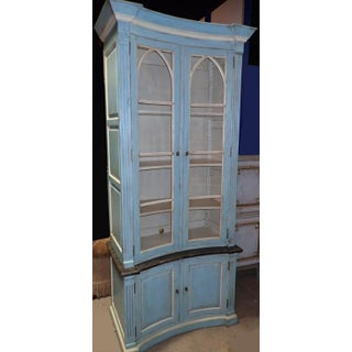 19th Century Continental Painted Curved Bibliotheque Preview
