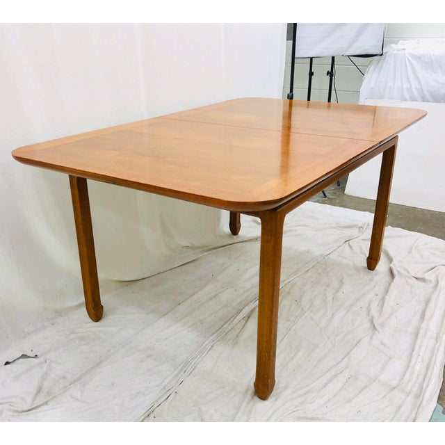 Stunning Vintage Mid Century Era, Danish Modern Style Dining Table in original finish with two leaves. Original finish...