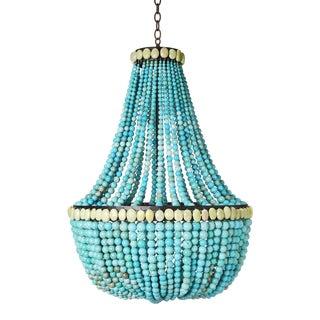 Marjorie Skouras Turquoise Empire Chandelier For Sale