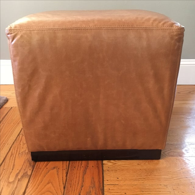 Williams-Sonoma Home Robertson Leather Ottoman - Image 3 of 6