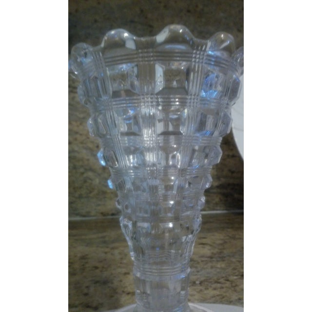 Art Deco Flared Glass Vase - Image 3 of 6
