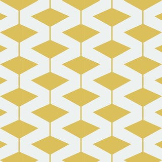 Abacus Dusty Yellow Prepasted Wallpaper For Sale