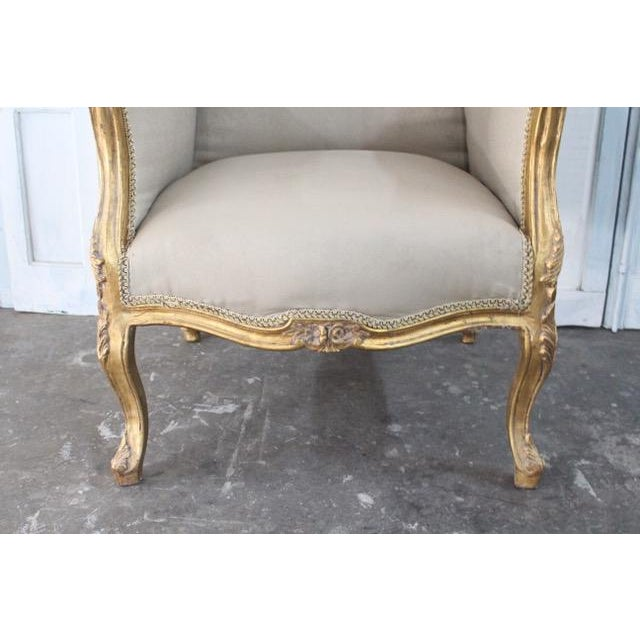 Wood Louis Xv Style Wingback Bergères Chairs - a Pair For Sale - Image 7 of 11