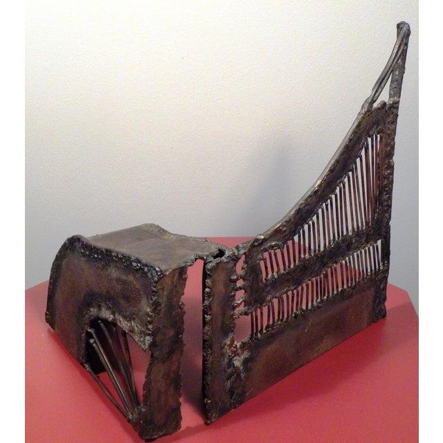 Mid-Century Modern Brutalist Metal Sculpture - Image 6 of 6
