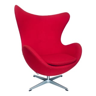 Arne Jacobsen for Fritz Hansen Vintage Egg Chair Danish Mid Century Modern For Sale
