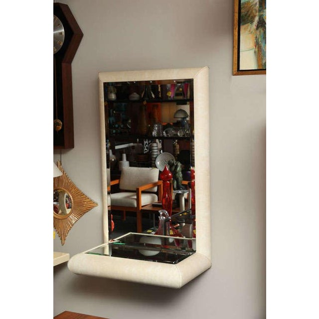 Springer Style Mirror Console in Faux Lizard by Jaru, California - Image 3 of 11
