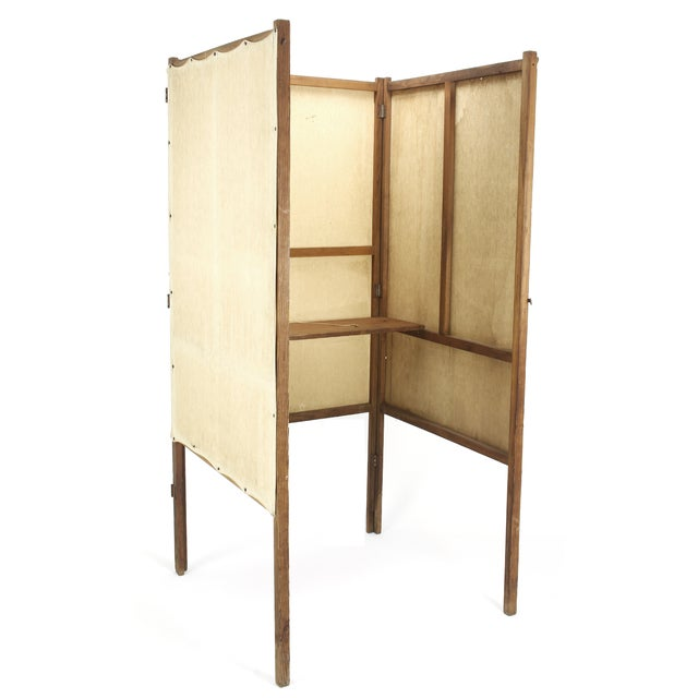 1920s Wood and Canvas Voting Booth For Sale