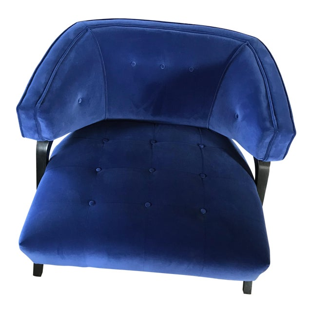 Custom Cobalt Club Chair For Sale