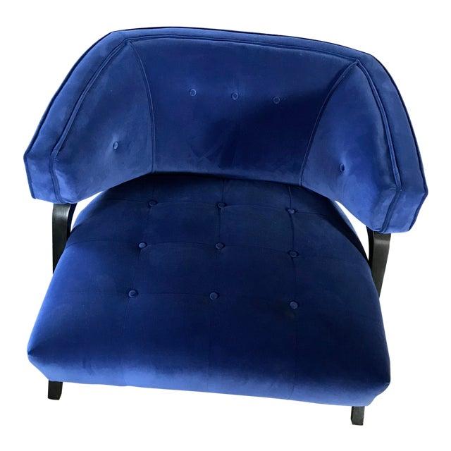 Custom Cobalt Club Chair For Sale