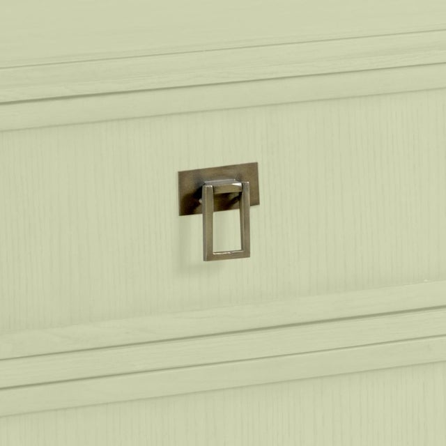 This is a made to order item with a 6-8 week leadtime. The color is Benjamin Moore Guildford Green.A rectangle top is...