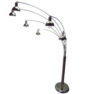 Mid-Century Modern Six Arm Arc Floor Lamp by Sunset Mutual Lighting Co. For Sale
