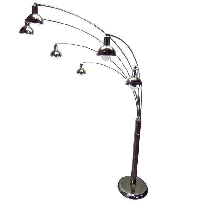Mid Century Modern Six Arm Arc Floor Lamp By Sunset Mutual Lighting Co