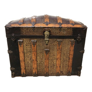 19th Century Traditional Style Dome Top Trunk For Sale