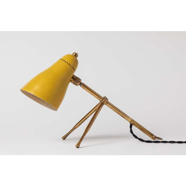 """1950s 1950s Giuseppe Ostuni """"Ochetta"""" Yellow Wall or Table Lamp for O-Luce For Sale - Image 5 of 13"""