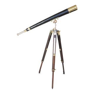 Late 19th Century English Brass Telescope by Thomas Cooke and Sons Ltd. For Sale