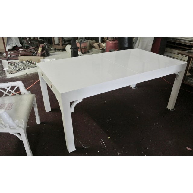 Mid-Century Modern Boulevard Parsons Table by Lilly Pulitzer For Sale - Image 3 of 13
