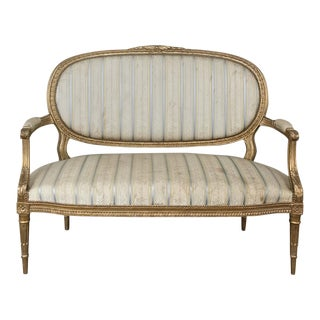 19th Century French Louis XVI Giltwood Sofa For Sale