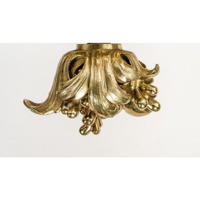 English Gothic Revival Bronze Chandelier For Sale - Image 4 of 13