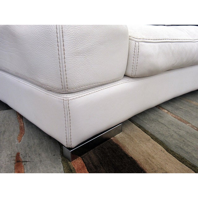 Animal Skin 2007 Modern Roche Bobois by Polaris White Leather Modular 5 Pc. Sectional Sofa For Sale - Image 7 of 12