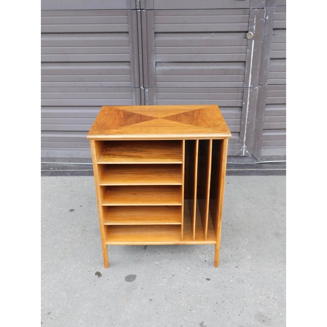 Brown 1950s Swedish Mid-Century Modern Open Filing Cabinet For Sale - Image 8 of 9