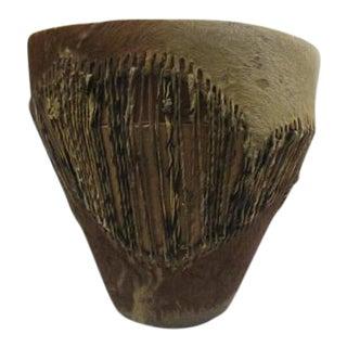 Antique African Fur Lined Drum