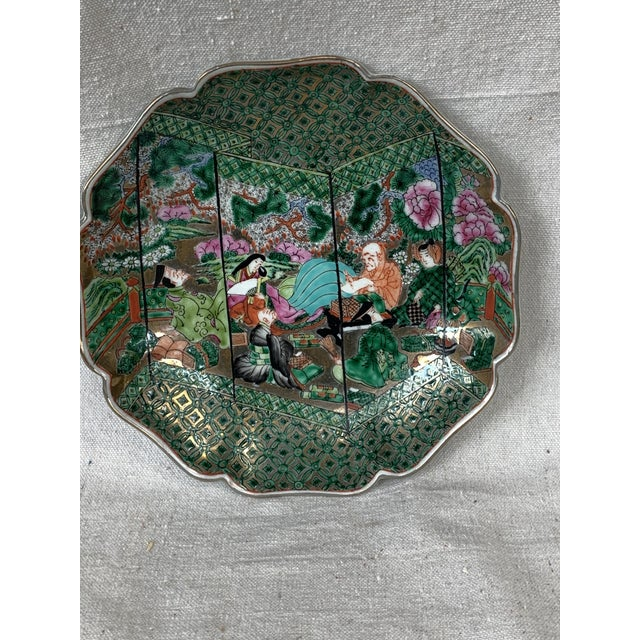 Vintage Chinoiserie Decorative Plate For Sale - Image 9 of 10