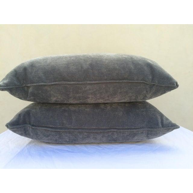 Velvet Cape Cod Blue Pillows - a Pair - Image 3 of 8