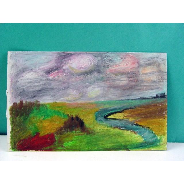 Color Block Pastel Landscape Drawing - Image 2 of 2