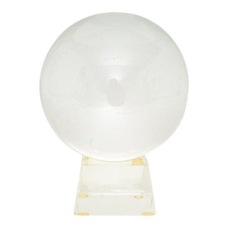 Vintage Crystal Ball on Stand For Sale