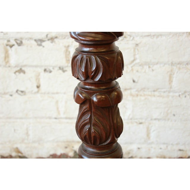 Wood 19th Century Carved Mahogany Plant Stands - a Pair For Sale - Image 7 of 9