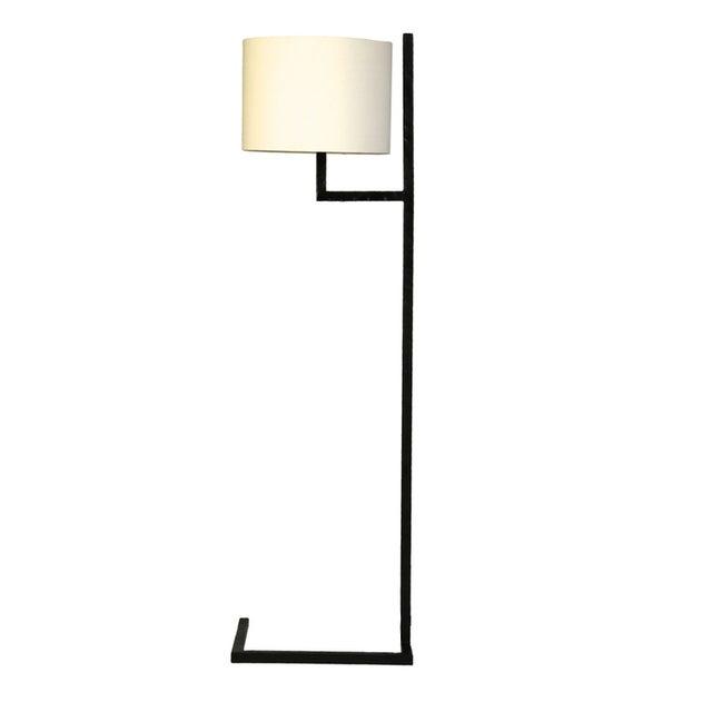 Modern Powder Coated Black Metal Floor Lamp - Image 1 of 3