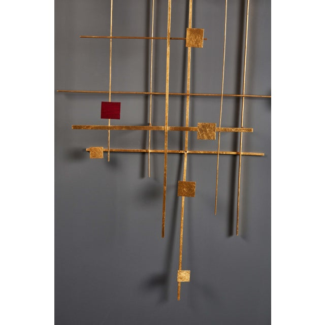 1950s Enamel and Gold Leaf Sculpture by Robert Hogue For Sale - Image 5 of 8