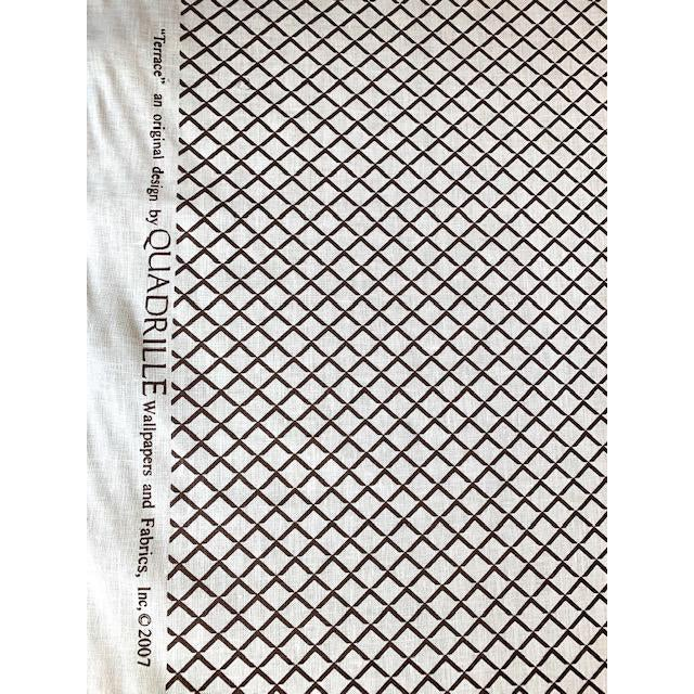 Quadrille Terrace Fabric - 4.75 Yards Brown on Tint For Sale