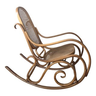 1970s Vintage Thonet Bentwood Rocker For Sale
