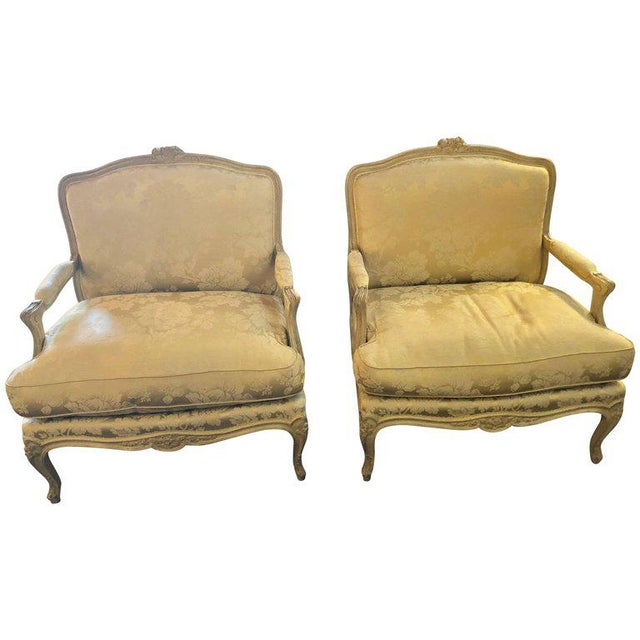 Louis XV Style Lounge Chairs by Maison Jansen - a Pair For Sale - Image 10 of 11