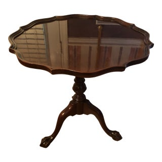 Traditional Henkel Harris Scalloped Mahogany Table For Sale